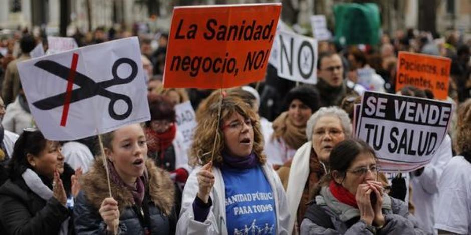 Une nouvelle manifestation de masse se tenait le dimanche 13 janvier 2013 EN ESPAGNE